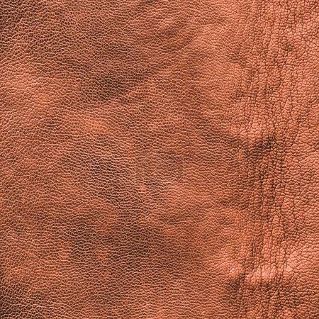 Photo pour Texture cuir brun froissé - image libre de droit