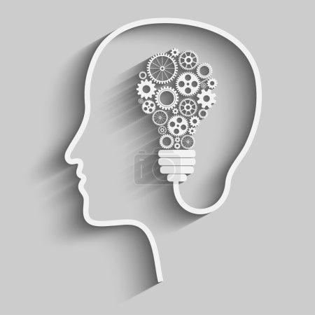 Illustration pour La tête humaine crée une nouvelle idée. Idée créative. vecteur . - image libre de droit