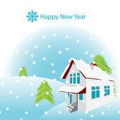 Carta di Capodanno vettoriale