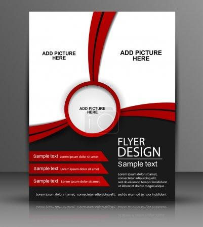 Illustration for Vector Flyer Design - Business - Royalty Free Image