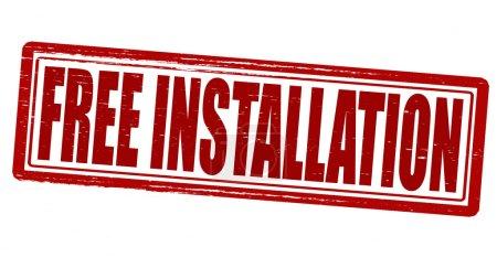 Free installation