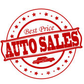 Stamp with text auto sales insidevector illustration