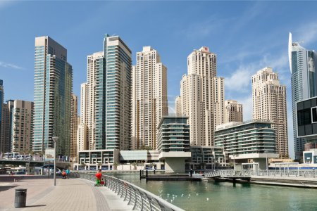 Photo for Business and financial district in Dubai - Royalty Free Image