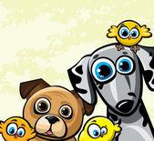 Cartoon vector funny family