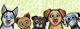 Set of funny cartoon dogs
