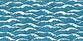 Seamless sea pattern with waves