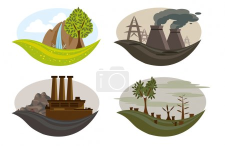 Global problem of pollution on the earth.