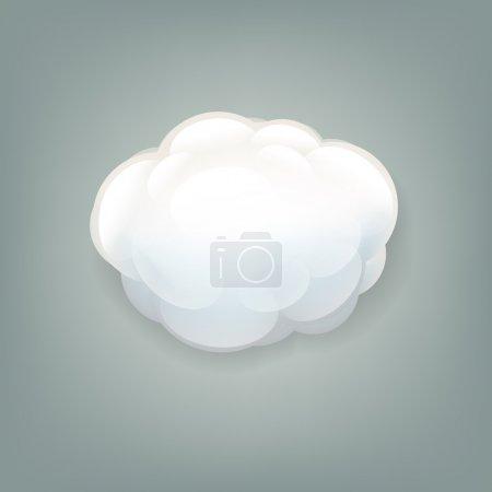 Illustration pour Icône de nuage avec filet de dégradé, illustration vectorielle - image libre de droit
