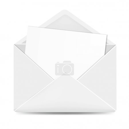 Open White Envelope With Paper