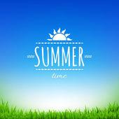 Summer Sale Banner With Gradient Mesh  Illustration