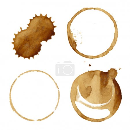 Illustration for Coffee Stains Set,  Illustration - Royalty Free Image