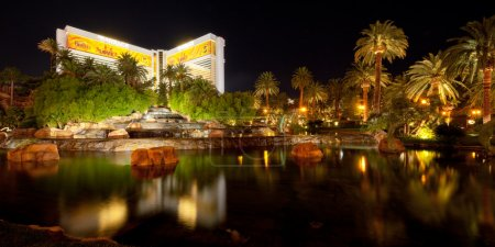 Pond near The Mirage in Las Vegas