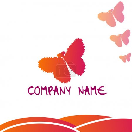 Logo - Butterfly with hearts...