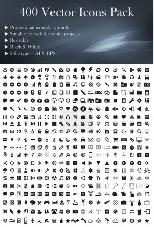 Photo for This is a simple, elegant and professional pack of vectorized icons and symbols suitable for your web and mobile projects. They´re 400 pieces easy to color change and resize without lose quality. - Royalty Free Image