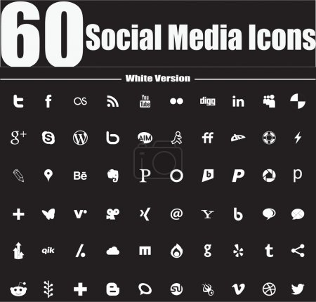 Photo for This is a nice, simple and elegant set of social media icons suitable for your graphic and web projects They are fully resizable and editable - Royalty Free Image