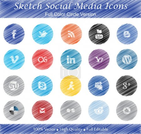 Photo for This is a nice, simple and elegant set of sketched social media icons suitable for your graphic and web projects. They are fully resizable and editable. - Royalty Free Image