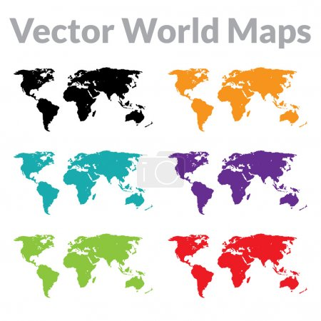 Photo for Vector world maps set - Royalty Free Image