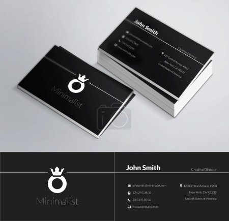 Photo for This is a modern, clean and elegant 2 sided business card. Perfect for any type of business. Excellent for professional and personal usage. It is easy to change the colors and the text. Print ready, CMYK, 300 DPI. - Royalty Free Image