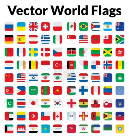 Photo for This is a simple, clean and unique set of vectorized world flags. Full editable and resizable. Good for several projects. - Royalty Free Image