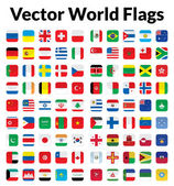 This is a simple clean and unique set of vectorized world flags Full editable and resizable Good for several projects