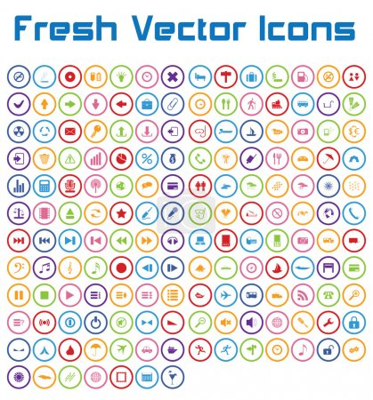 Photo for This is a nice, simple and elegant set of 161 vector icons suitable for your graphic and web projects (mobile, websites, presentations, infographics, user interfaces and print). They are fully resizable and editable and 100 percent vector. - Royalty Free Image