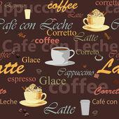 Seamless coffee theme