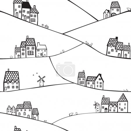 Hills and houses