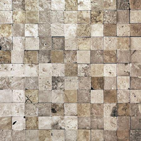 Photo pour Pièces de petits carrés de frome mur de Pierre - image libre de droit