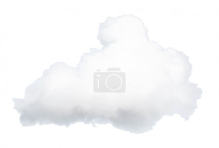 Photo for White cloud isolated on background - Royalty Free Image