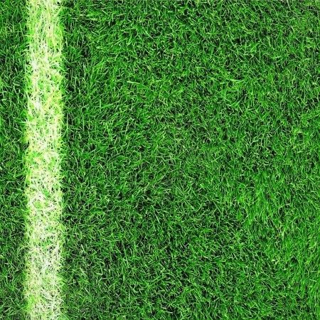 Photo pour Football vert champ herbe avec ligne - image libre de droit