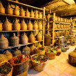 Old traditional storage inside a Greek monastery a...
