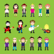 Pixel art guitar players and people...