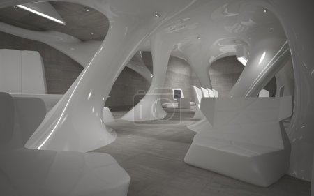 A series of abstract images of the interior of the penthouse.