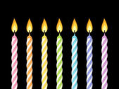 Colorful birthday candles Vector illustration