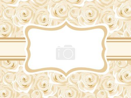 Illustration pour Carte vintage vectorielle avec roses blanches . - image libre de droit