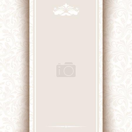 Illustration pour Carte vectorielle avec motif floral beige. SPE-10 . - image libre de droit