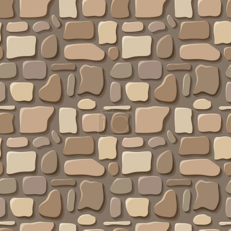 Seamless texture of stone wall. Vector illustration.