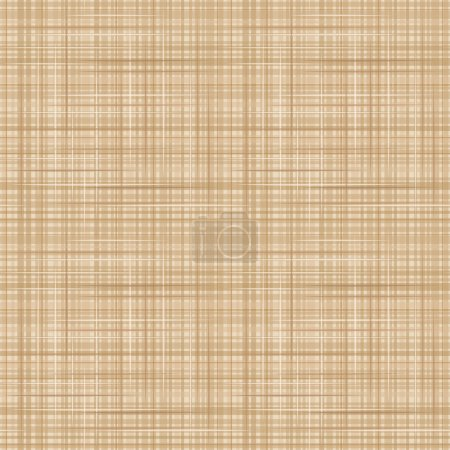 Illustration for Vector seamless background with beige canvas fabric texture. - Royalty Free Image
