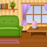 Vector illustration of living room....