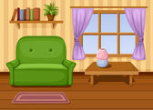 Vector illustration of living room