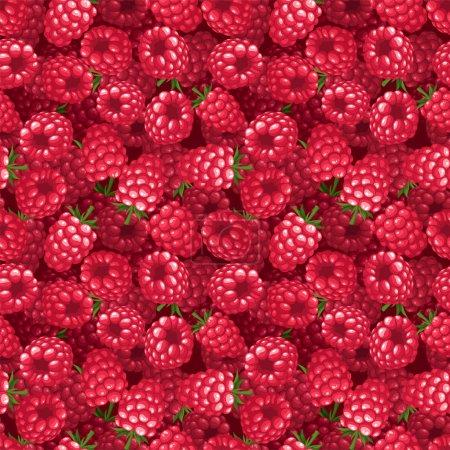 Illustration pour Fond vectoriel aux framboises rouges . - image libre de droit