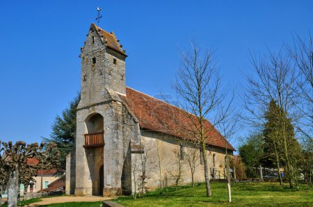 France, historical church of Gemage in Normandie