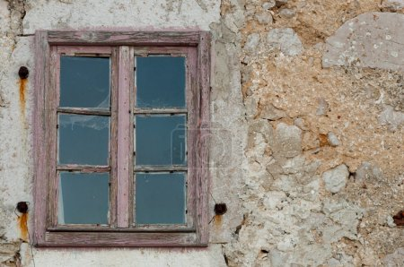 Detail of old wooden window at Lubenice - Cres