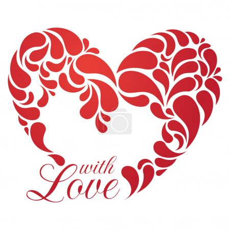 Illustration for Vector heart illustration for romantic design. EPS 8. - Royalty Free Image