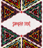 Colorful ethnic background with place for text EPS 10 vector illustration contains seamless ethnic pattern in swatches panel