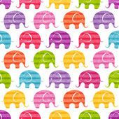 Seamless print with funny  little elephants EPS 10 vector illustration