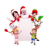Velký znak Vánoce s santa a děti
