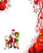 Santa claus s sobů a elfové