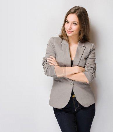 Gorgeous brunette woman.