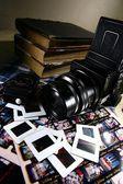 Retro střední formát filmové kamery a náčiní